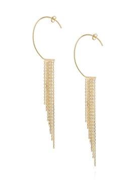 Sweet Pea Oval Fringe Earring