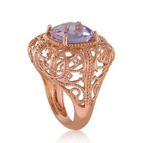 Lisa Nik 18K Rose Gold Twisted Wire Ring