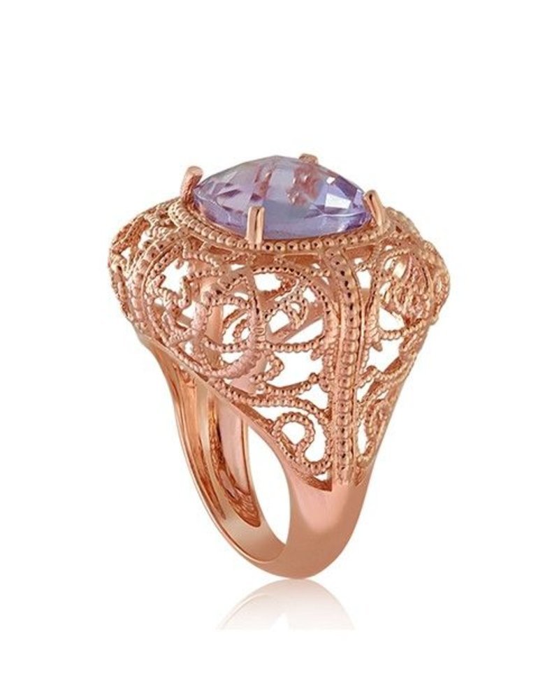 18K Rose Gold Twisted Wire Ring