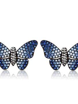 Jane Kaye Blue Ombre Butterfly Earrings