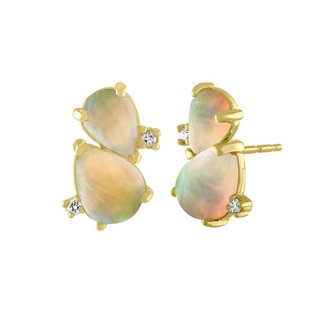 Amy Glaswand Pear Shaped Opal Studs