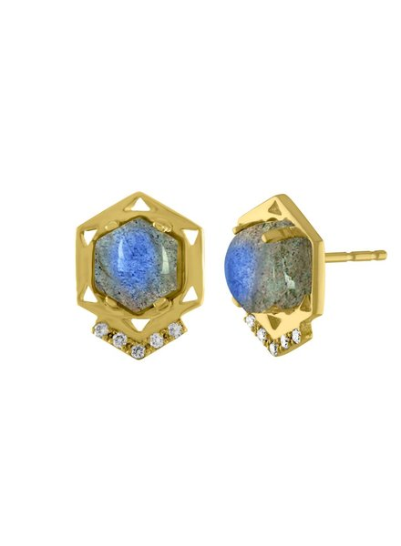 Amy Glaswand Hexagon Studs