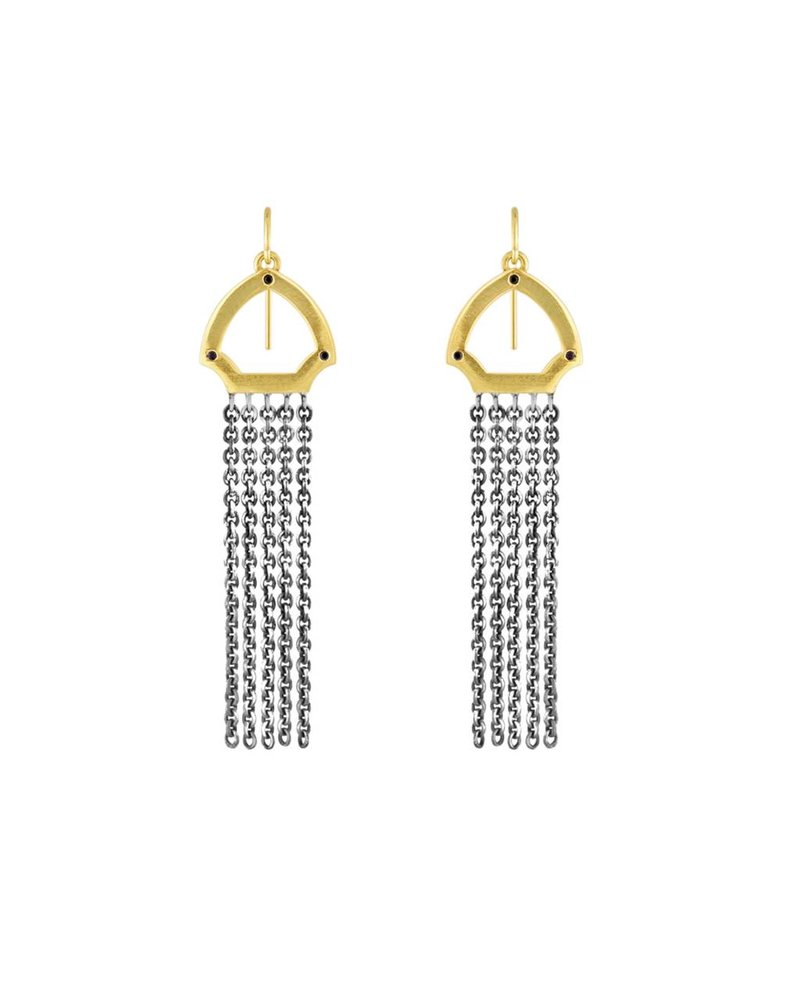 Amy Glaswand Hook Fringe Earrings