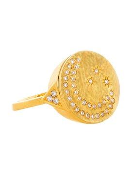 Devon Woodhill Moon & Stars Signet Ring