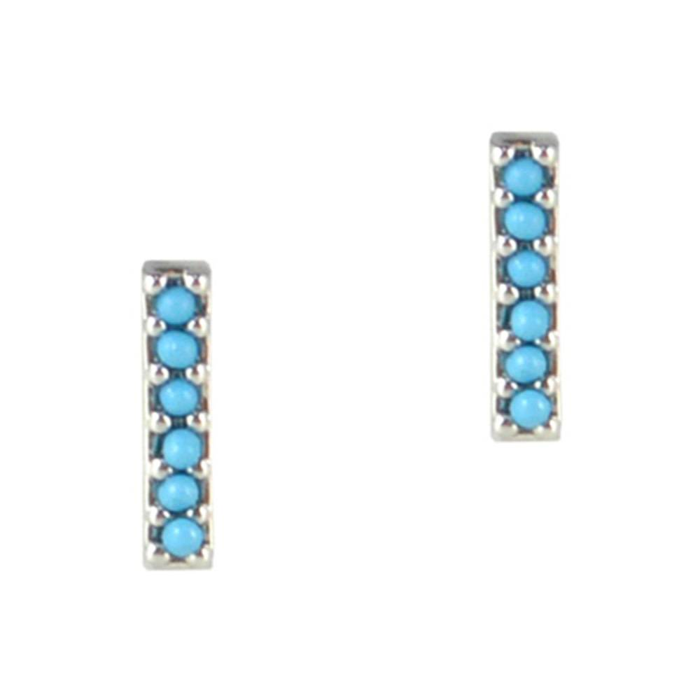 Tai Gold Stick Earrings Featuring Turquise
