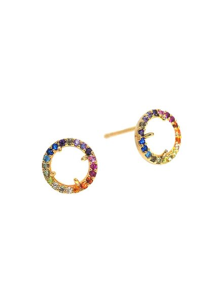 Tai Jewelry Rainbow Pavé Heart Stud Earrings 3qtCvV
