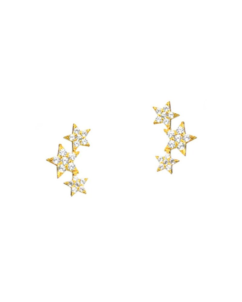Tai Triple Star Earrings