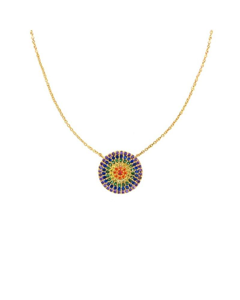 Tai Rainbow Disc Necklace