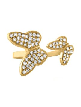 Jane Kaye Double Butterfly Pinky Ring
