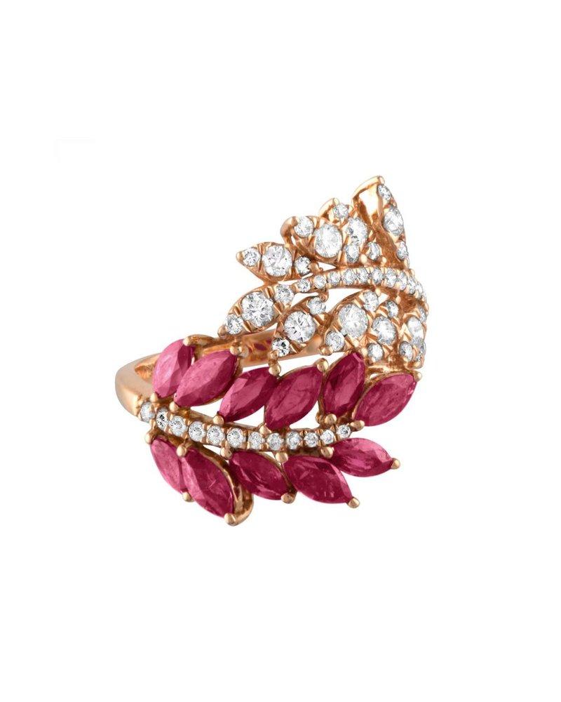 Jane Kaye Double Leaf Ring