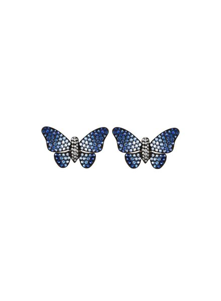 Jane Kaye Blue Ombre Butterfly Earrings