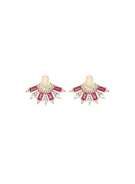 Jane Kaye Small Fan Earrings