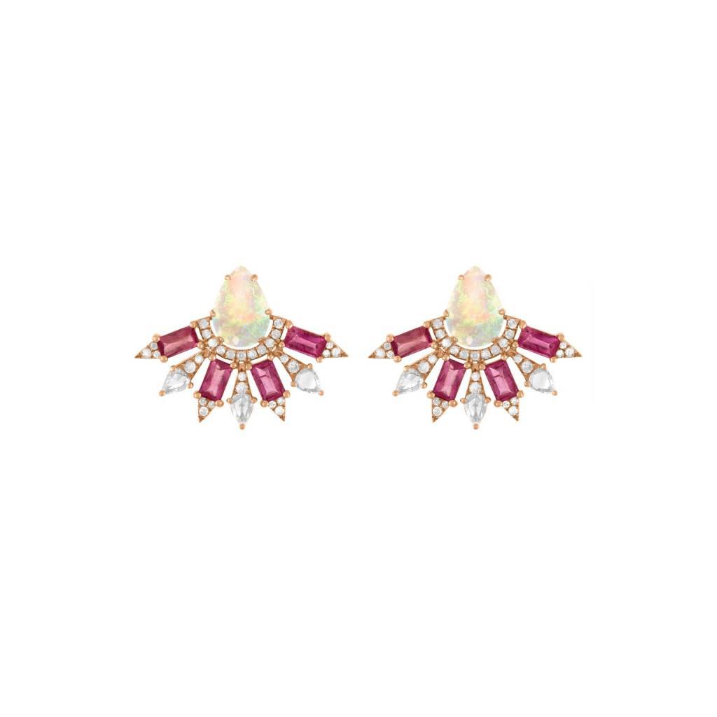 Jane Kaye Small Fan Earrings