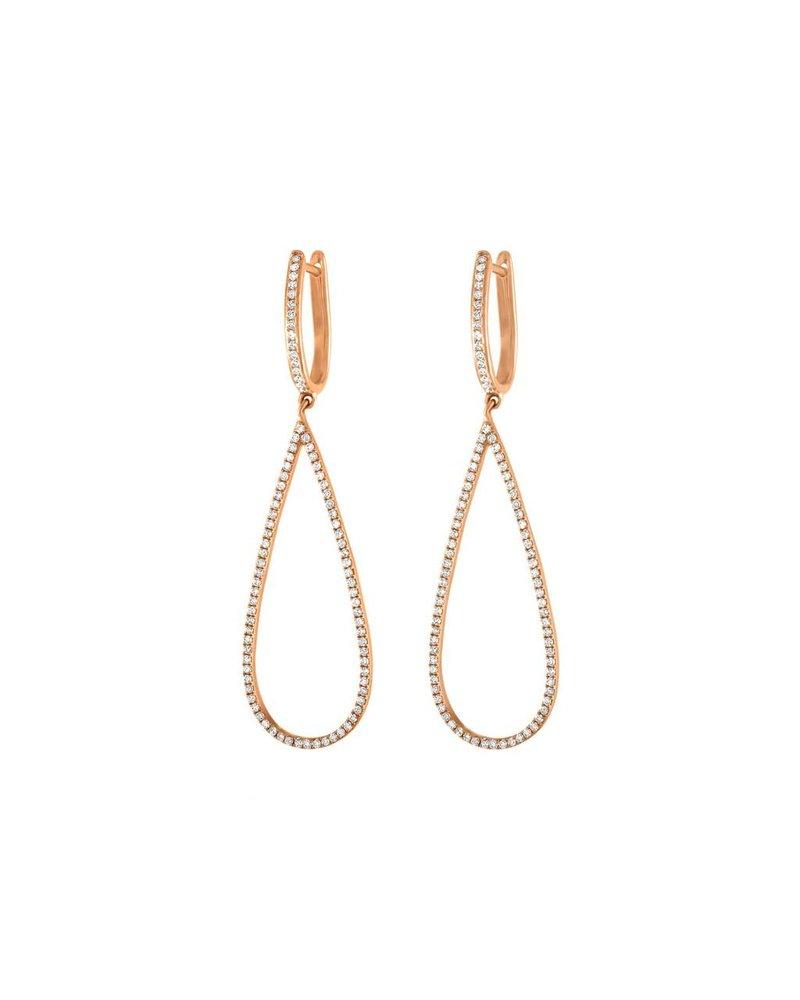 Jane Kaye Small Open Pear Earrings