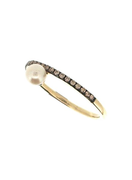 Jane Kaye Single Pearl Band Ring