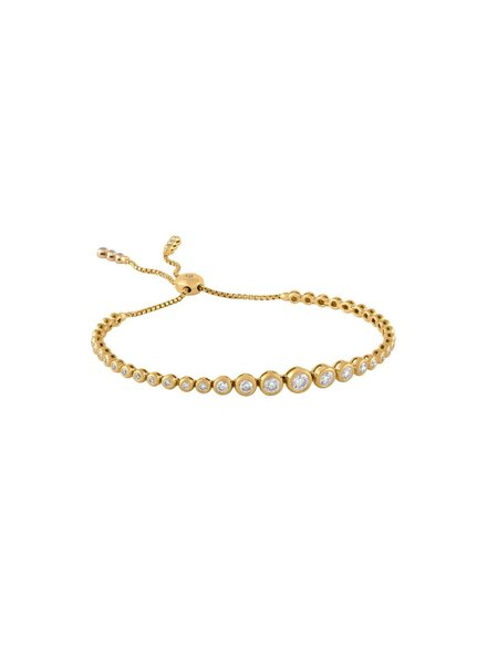 Jane Kaye Adjustable Tassel Tennis Bracelet YG