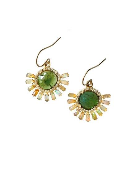 Eva Noga Opal Burst Earrings