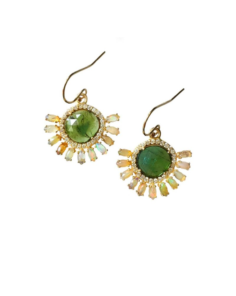Eva Noga Opal Burst Earrings