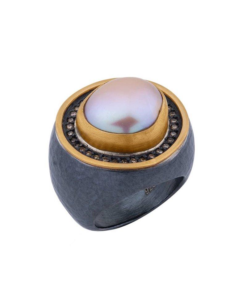 Lika Behar Roxelana  Pink Pearl Ring