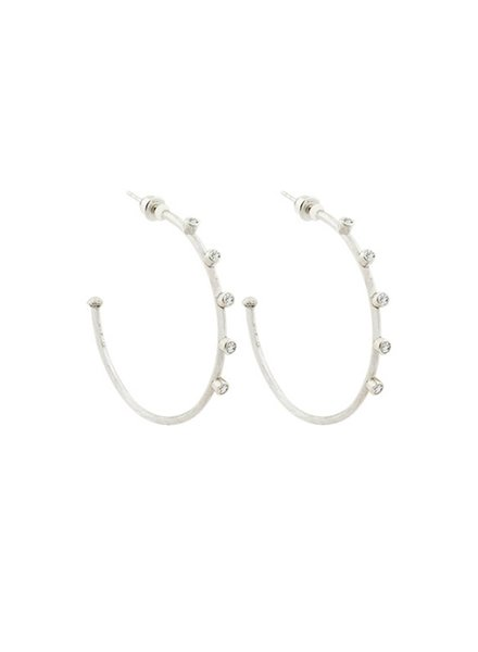Lika Behar Sterling Silver Large Hoops