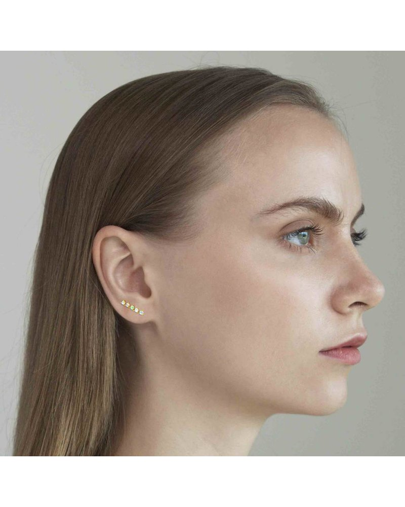 Tai Rail Road Post Earrings