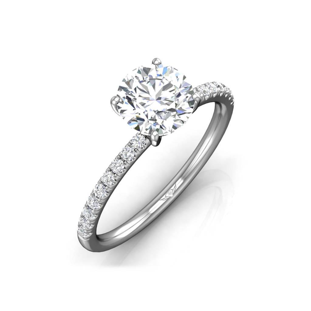 engagement ring wedding pi micro band rings with pave brilliant round ringspotters