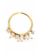 Tai Gold Dangle Stack Ring
