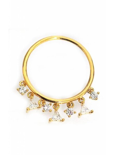 Tai Gold Dangle Stack Ring