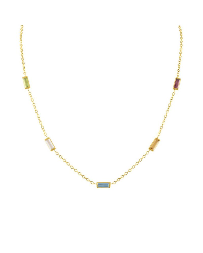 Amy Glaswand Confetti Baguette Necklace