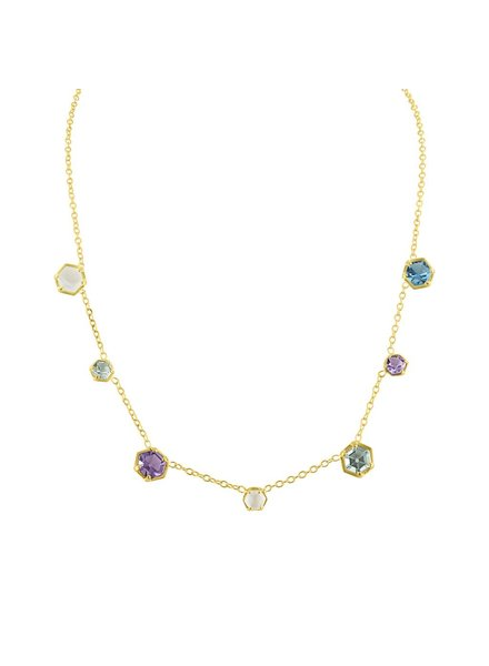Amy Glaswand Bezel Confetti Necklace