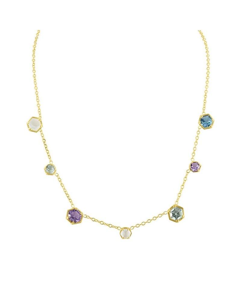 Amy Glaswand Bezel Confetti Necklace