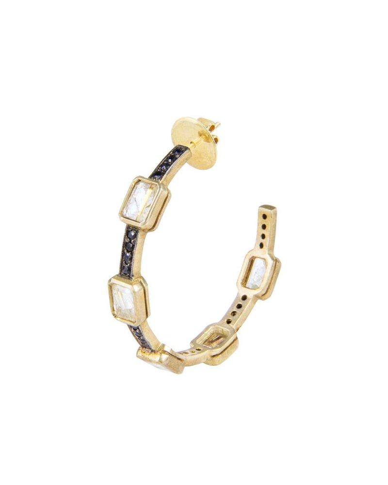 M. Spalten Jewelry Classic Gem Stone Hoop