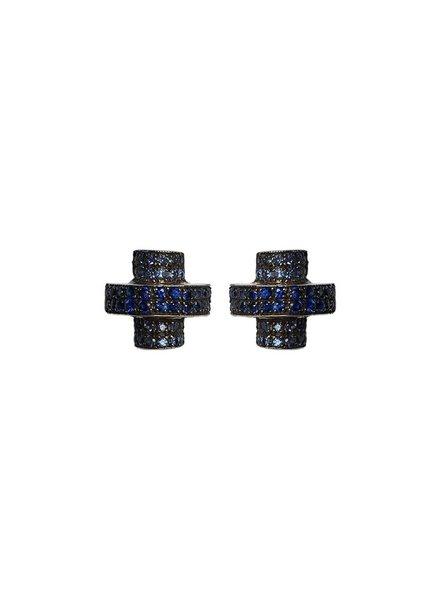 M. Spalten Jewelry Half Round Stack Disco Studs