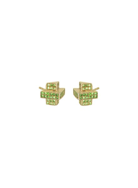 M. Spalten Jewelry Pyramid Stack Disco Studs