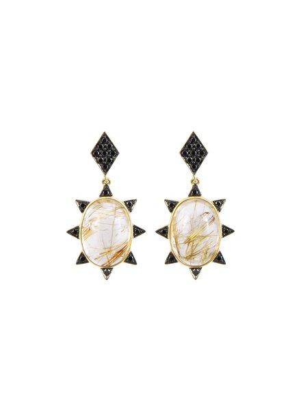 M. Spalten Jewelry Rutile Starburst Earring