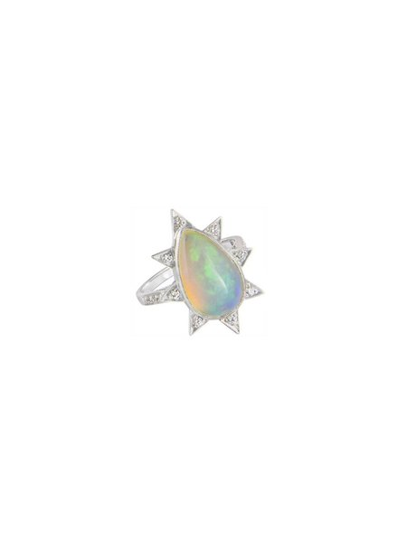 M. Spalten Jewelry Pear Shape Opal Starburst Ring