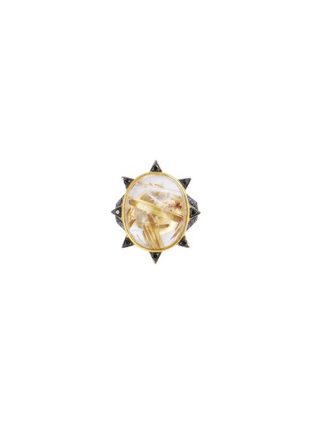 M. Spalten Jewelry Rutile Starburst Oval Ring