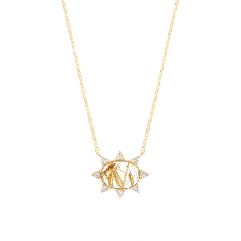 with goldtone necklace necklaces house hoh pendants gold harlow pendant mini clear sunburst black products leather of pave