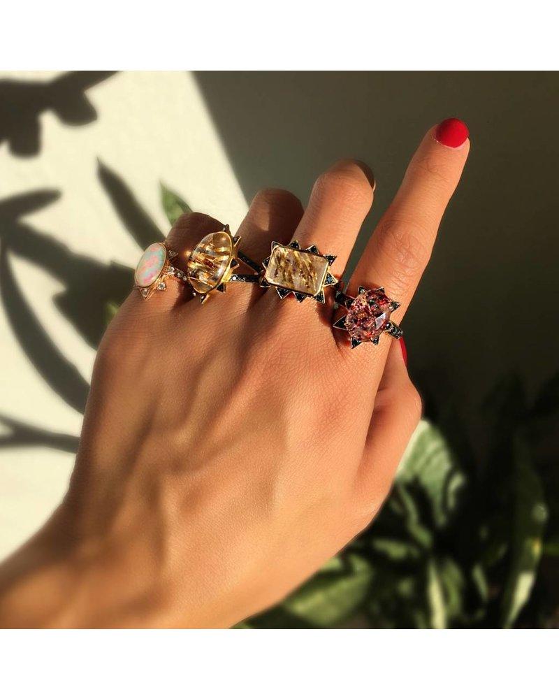 M. Spalten Jewelry Rutile Starburst Oval Ring