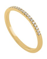 Squared Edged Diamond Stack Band