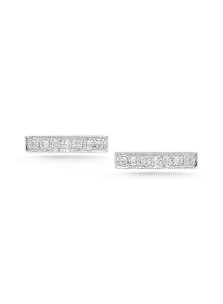 Sylive Rose Diamond Bar Earrings