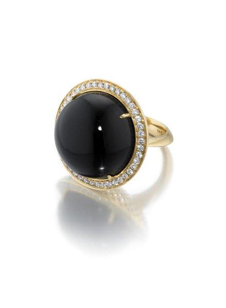 Large Black Onyx Cocktail Ring