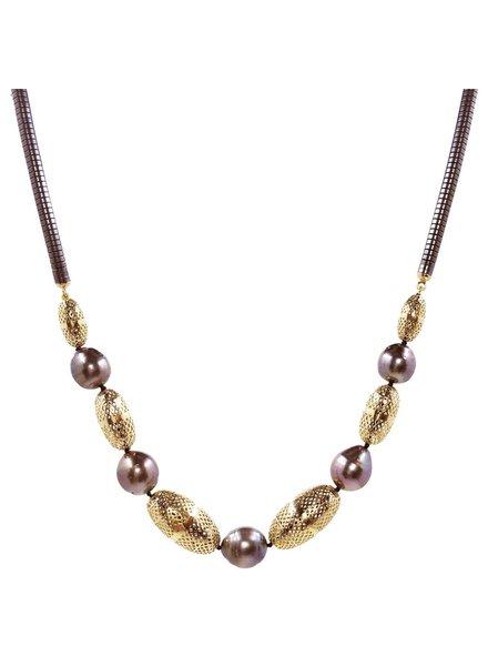 Crownwork & Pearl Necklace