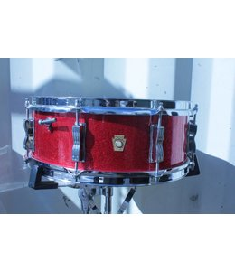 Ludwig Vintage Ludwig 5x14 Red Sparkle Jazz Festival Snare