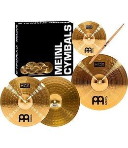 Meinl Meinl HCS Three For Free Cymbal Set; 13 Hi Hat, 14 Crash, Inc. Free 10 Splash, Free Promark 5A Sticks & Free Lessons At Mikeslessons.Com
