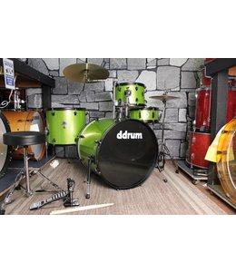 DDrum ddrum D2 4pc Rock Drum Kit Lime Sparkle