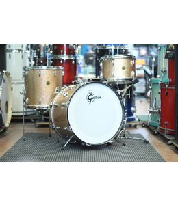 Gretsch Vintage Gretsch Round Badge 1959 Progressive Jazz 3pc  Pink Champagne Sparkle Shell Pack