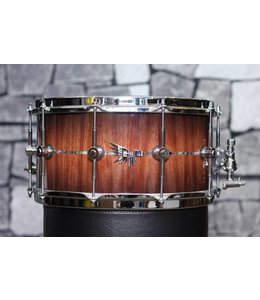 Hendrix Drums Hendrix Drums 14x7 in Gloss Bubinga Burst Snare  Drum w/inlay
