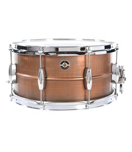 Q Drum Co Q 7X14 Gentlemen's Copper Raw Finish Snare Drum