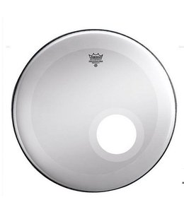 Remo Remo Smooth White Powerstroke 3 Bass Drumhead w/ Dynamo Installed and No Stripe